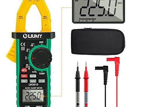 digital clamp meter liumy multimeter stromzange amperemeter mit 6000 counts f r wechselstrom. Black Bedroom Furniture Sets. Home Design Ideas