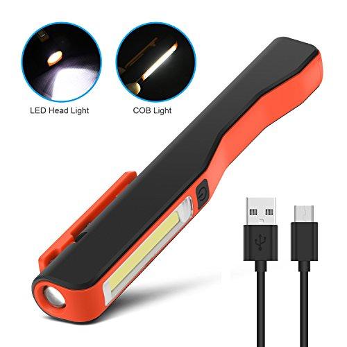Handlampe COB LED 3W Arbeitslampe Werkstattlampe Taschenlampe Lampe mit Magnet